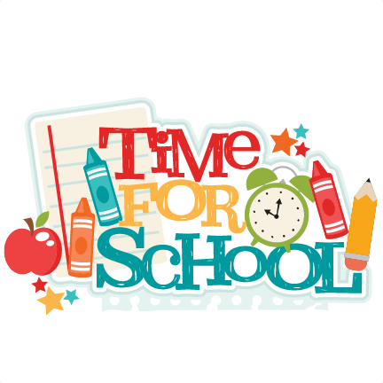 Image result for be on time to school clip art