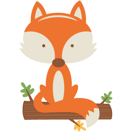 fall fox svg scrapbook cut file cute clipart files for