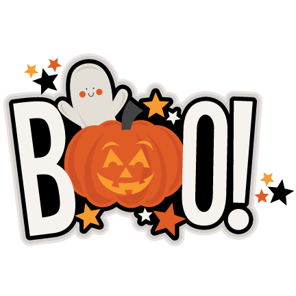 Boo Title Svg Scrapbook Cut File Cute Clipart Files For
