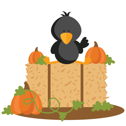 Crow on Hay Bale SVG scrapbook cut file cute clipart files for ...