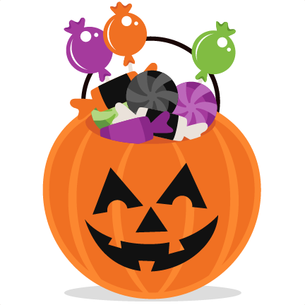 Trick or Treat Pumpkin scrapbook cut file cute clipart ...