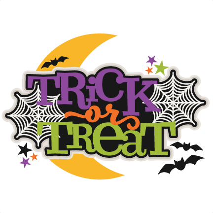 Trick or Treat Title scrapbook cut file cute clipart files ...