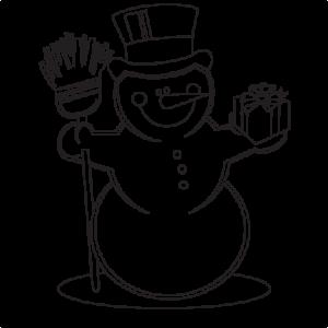 Snowman Coloring Page  SVG scrapbook cut file cute clipart files for silhouette cricut pazzles free svgs free svg cuts cute cut files