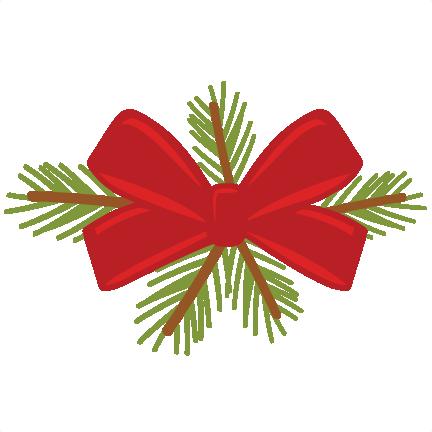 Christmas Bow SVG scrapbook cut file cute clipart files for silhouette cricut pazzles ...