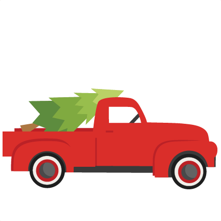Christmas Truck With TreeSVG scrapbook cut file cute ...