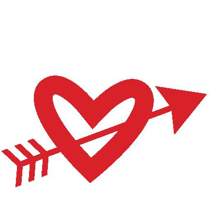 Arrow Through Heart SVG scrapbook cut file cute clipart files for ...