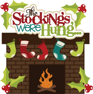 The Stockings Were Hung SVG