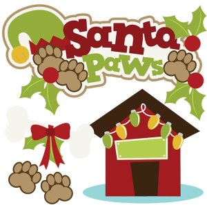 Santa Paws SVG