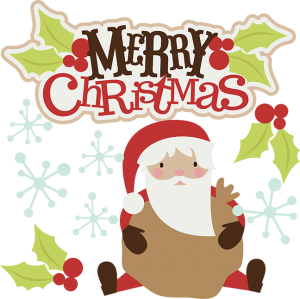 Merry Christmas SVG christmas clipart santa svg santa clipart cute clip art santa scrapbook svg