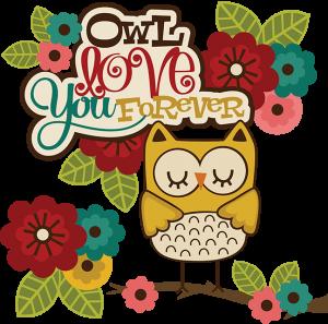 Owl Love You Forever SVG owl clip art cute owl clipart cute owl clip art owl scrapbook svg