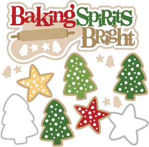 Baking Spirits Bright SVG christmas baking svg christmas baking clip art christmas baking clipart