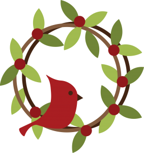 Bird On Wreath SVG File