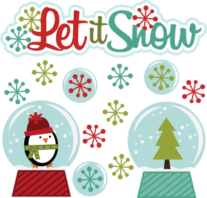 Let It Snow SVG winter clipart cut clip art free svg file free svgs snowglobe svg