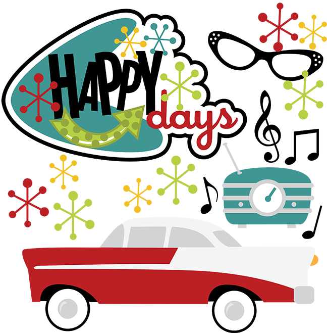 Happy Days SVG 50s Svg Clipart Clip Art