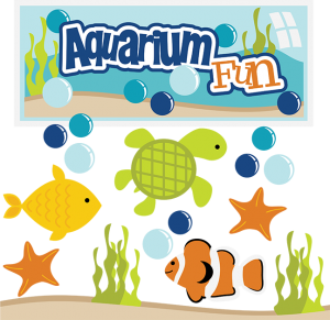 Aquarium Fun SVG aquarium clipart fish svg files turtle svg files clown fish clipart