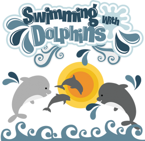 Swimming With Dolphins SVG dolphin svg file dolphin svg file for scrapbooking cute clipart