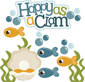 Happy As A Clam SVG ocean svg files fish svg file clam svg file cute clipart beach svg file