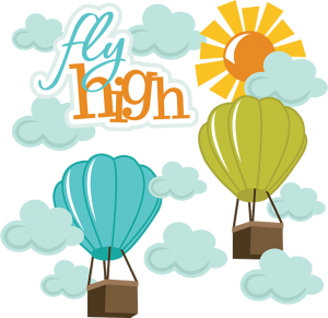 Fly High SVG hot air balloon svg file hot air balloon scrapook svg file hot air balloon clipart