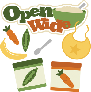Open Wide SVG baby svg baby food svg carrot svg banana svg pea pod svg baby food clipart