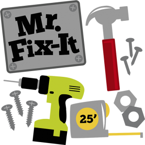 Mr. Fix-It SVG hammer svg drill svg measuring tape svg svg files for scrapbooking