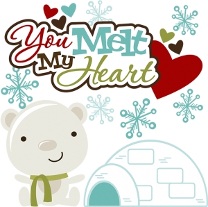 You Melt My Heart SVG polar bear svg igloo svg snowflake svg svg files for scrapbooking