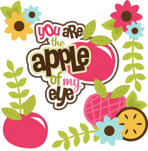 You Are The Apple Of My Eye SVG apple svg file svg files for scrapbooking cute clipart
