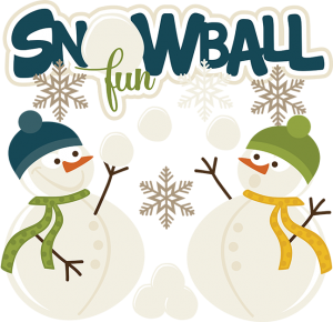 Snowball Fun SVG snow svg files for scrapbooking winter svg files cute clipart