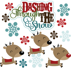 Dashing Through The Snow SVG reindeer svg file winter svg files snow svg files christmas svg files