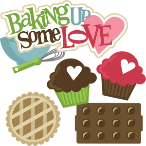 Baking Up Some Love SVG svg files for scrapbooking cupcake svg baking svg files cute clipart