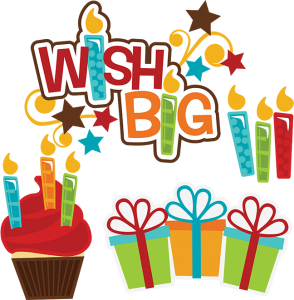 Wish Big SVG birthday svg files cupcake svg file birthday present svg file cutting files for scrapbooking