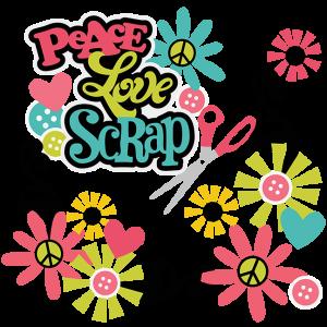 Peace Love Scrap SVG scrapbooking svg files cut files for scrapbooking free svg files free cut files