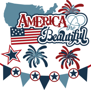 America The Beautiful SVG 4th of july svg files for scrapbooking fireworks svg files