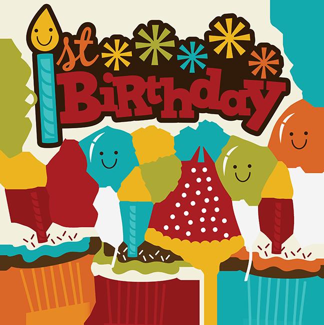 1st Birthday Logo 1st Birthday Svg Scrapbook