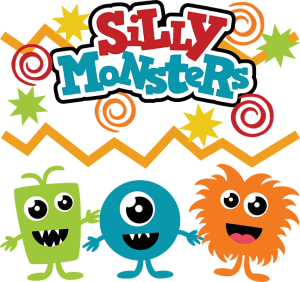 Silly Monsters SVG scrapbook files monster cut files for scrapbooks cute monster svg files