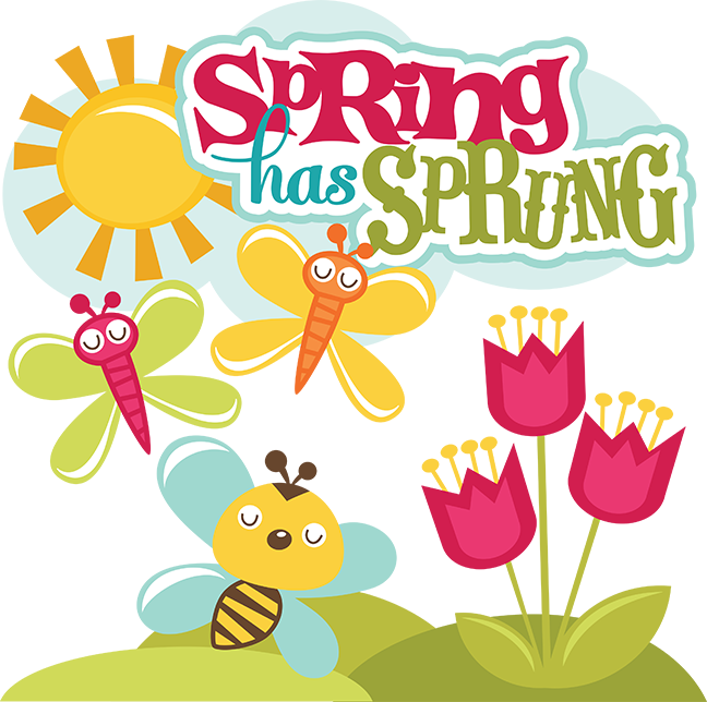 Spring Has Sprung Svg Scrapbook Collection Svg Files For