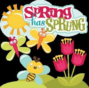 Spring Has Sprung SVG scrapbook collection svg files for scrapbooks spring cut files for scrapbooking