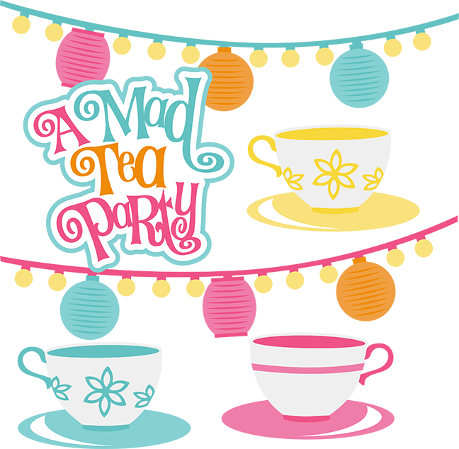 A Mad Tea Party Svg Scrapbook Collection Svg Files For