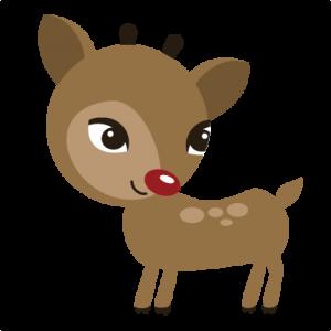 Reindeer SVG file for scrapbooking cute cut files for scrapbooks cute svg cuts for cardmaking
