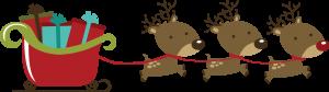 Reindeer Pulling Sleigh SVG scrapbook file svg files for scrapbooks christmas svg files