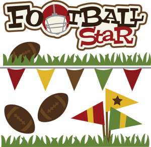 Footbsll Star SVG file football svg files for scrapbooking football svg cuts for scrapbooks