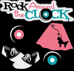 Rock Around The Clock SVG scrapbook files cute svg cuts cute cute files for scrapbooking cardmaking