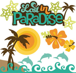 Lost In Paradise SVG scrapbook collection beach svg cuts tropical svg cuttting files for scrapbooking cardmaking