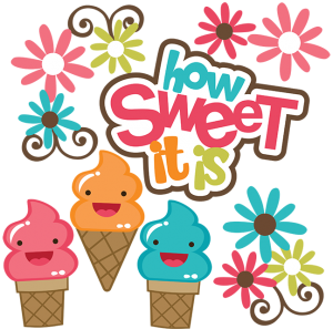 How Sweet It Is SVG scrapbook collection ice cream cone svg cut ice cream cone svg file for scrapbooking