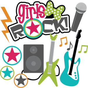 Girls Rock! SVG Scrapbook collection teen svg files for scrapbooking teen svg cut files