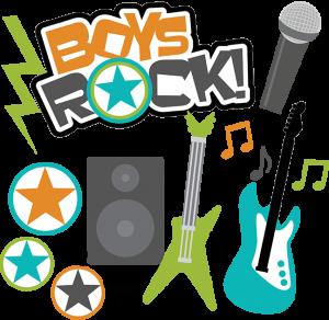 Boys Rock! SVG Scrapbook Collection boys svg files for scrapbooking teen boy cut files for scrapbooks