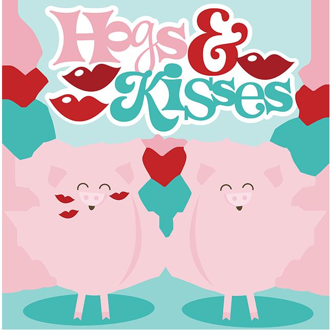 hogs amp kisses svg scrapbook files cute svg cuts valentines