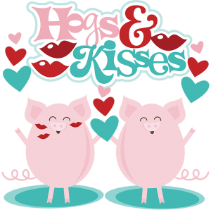Hogs & Kisses SVG scrapbook files cute svg cuts valentines day svg file for scrapbooking free svg files