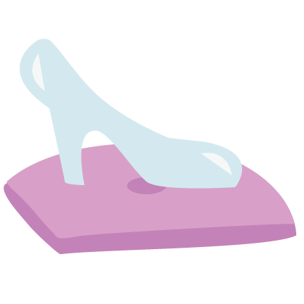 Cinderella Slipper Clip Art Slipper on pillow svg file for