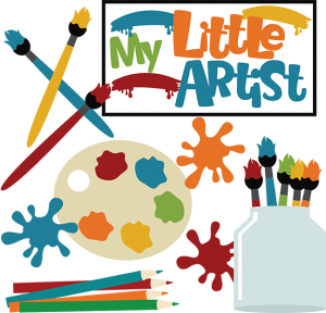 My Little Artist SVG scrapbook collection artist svg files paintbrush svg files cute svg cuts for scrapbooking
