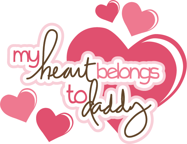 christian valentine day images and quotes - My Heart Belongs To Daddy SVG scrapbook title svg files
